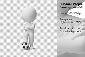 3D Small People - Soccer Player