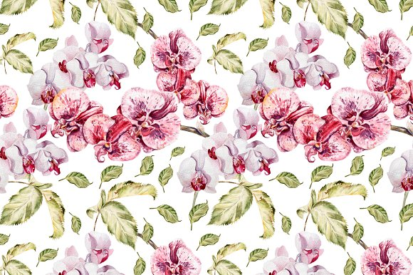 Beautiful watercolor flowers in Objects - product preview 4