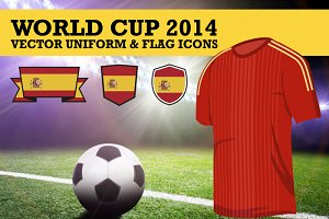 World Cup 2014 Uniform and Flag