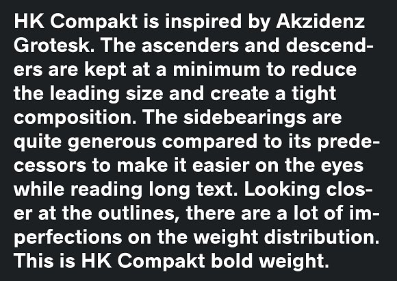 HK Compakt Typeface