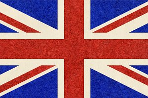 Union Jack UK flag w paper texture
