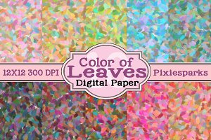 Color of Leaves Digital Paper