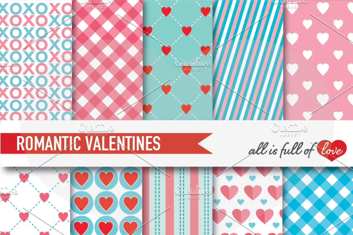 Pink Turquoise Background Paper Love Graphic Patterns Creative