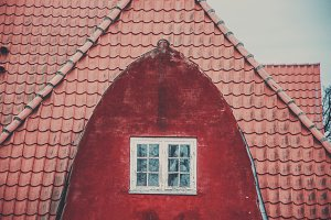 Red Attic, White Window