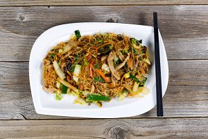 Noodles and Chicken dish