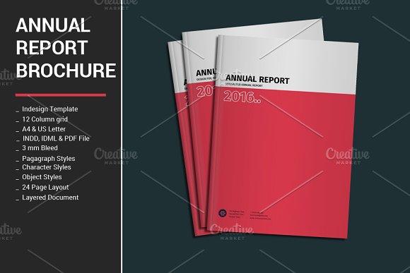Annual Report Brochure Brochure Templates on Creative Market – Annual Report Brochure
