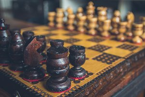 Vintage Chess Table Set