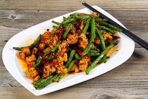 Spicy Chicken and green beans