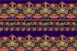 2 Border Seamless Patterns