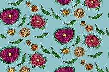 Seamless floral patten