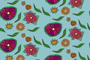 Seamless floral patten