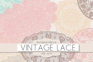 Pastel doilies lace clipart