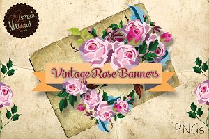 Rose vintage Banners