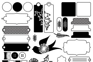 Digital Scrapbooking PS Brushes