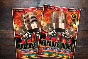 Karaoke Night Music Flyer