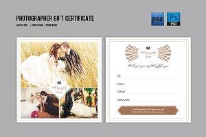 Photographer Gift Certificate-V03