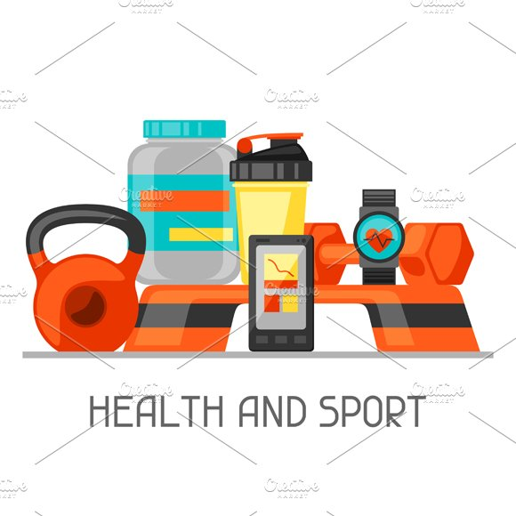 Sports and fitness backgrounds.