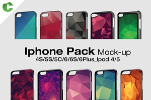 Iphone Pack - 2d Case Mock-Up