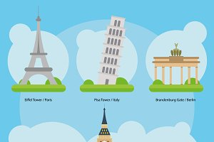 Europe Monuments and landmarks Set 1