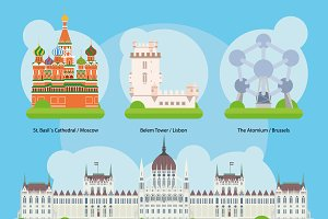 Europe Monuments and landmarks Set 2
