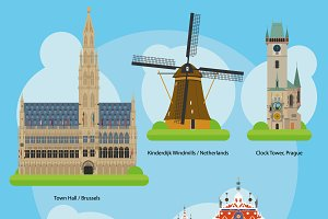 Europe Monuments and landmarks Set 3