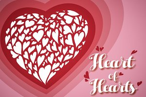 Heart of hearts vector [25% off]