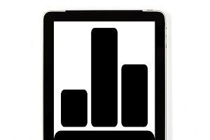 Tablet concept statistics signs: Sig