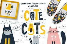 Cute cats. Patterns