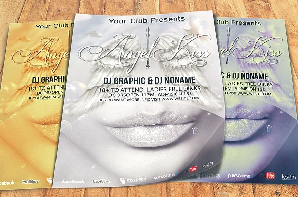 Angel Kiss Party Flyer