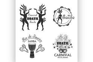 Brazilian Carnival big set of  logo