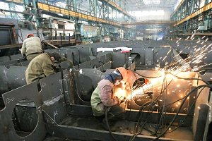 Group of welders at work