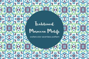 Traditional Moroccan Motif Pattern