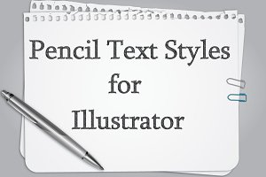 Pencil Text Styles
