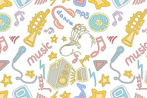Doodle pattern music