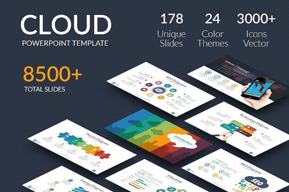Cloud Powerpoint Template Presentation Templates Creative Market