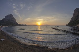 Dawn on the sea. Crimea, September.