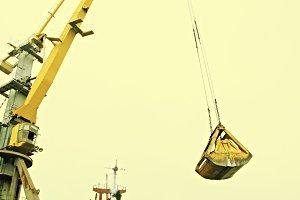 Loading cargo ship