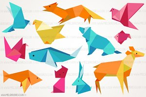 Origami Animal Illustrations