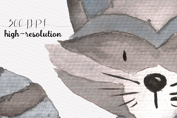 Woodland animals Watercolor Clipart in Illustrations - product preview 4