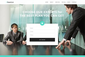 Expertum - One Page WordPress Theme