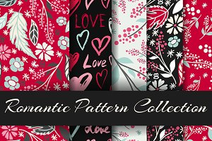Cute seamless patterns collection