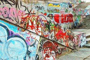 Street culture. Graffiti