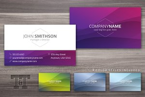 New Waves Professional Business Card