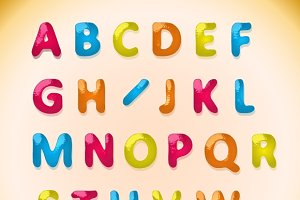 Children's candy alphabet