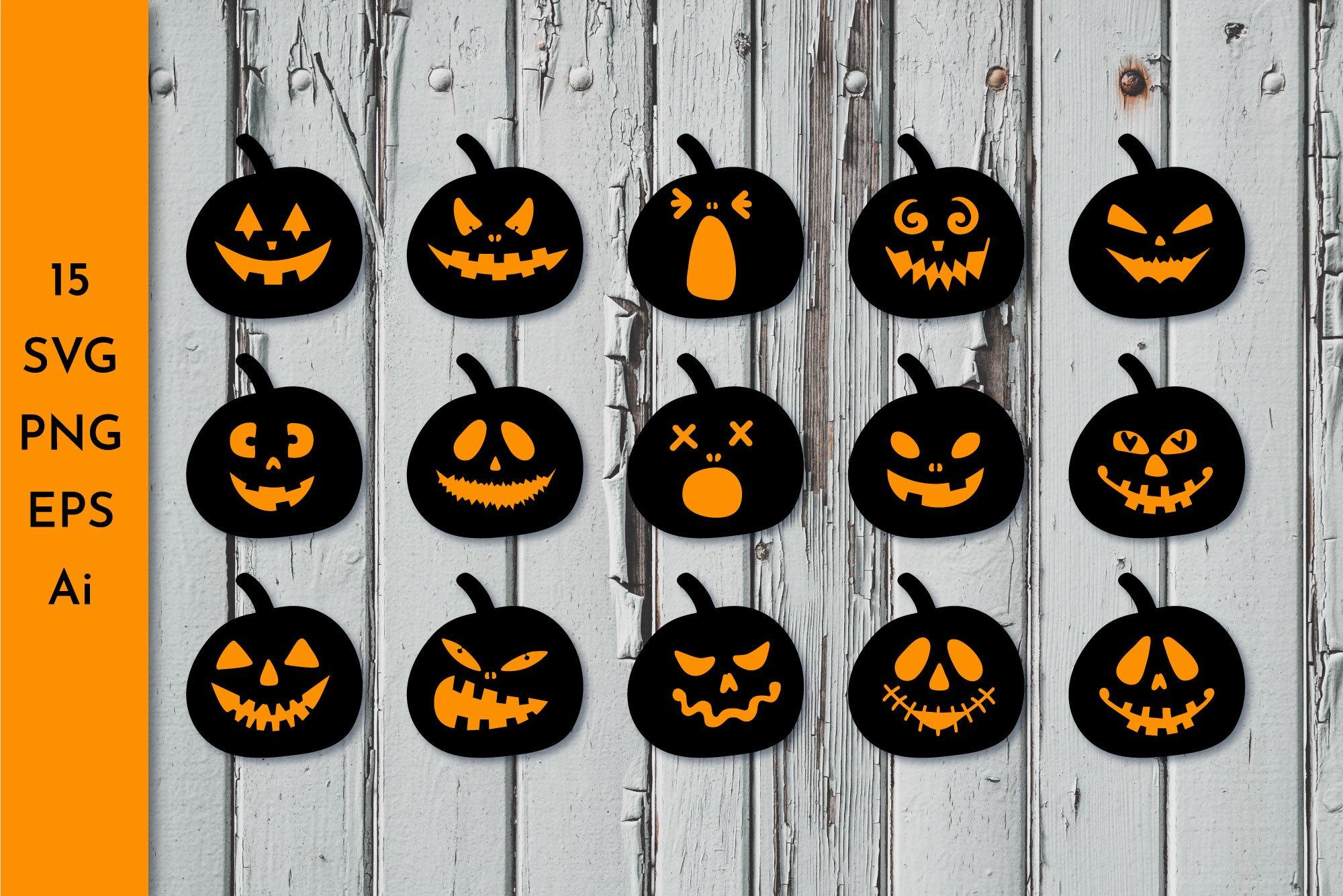 Jack O Lantern Halloween Pumpkin Svg Pre Designed Photoshop Graphics Creative Market