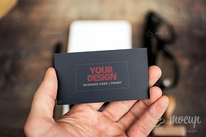 "PSD Mockup Business Card CI 2 ""A"""