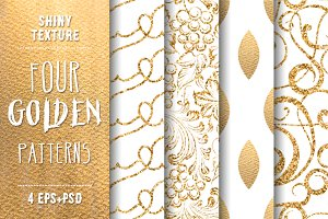 Shiny Gold. Set of 4 patterns.