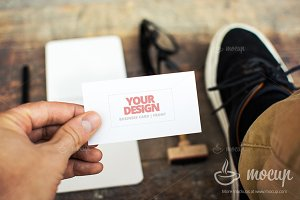 "PSD Mockup Business Card CI 2 ""B"""