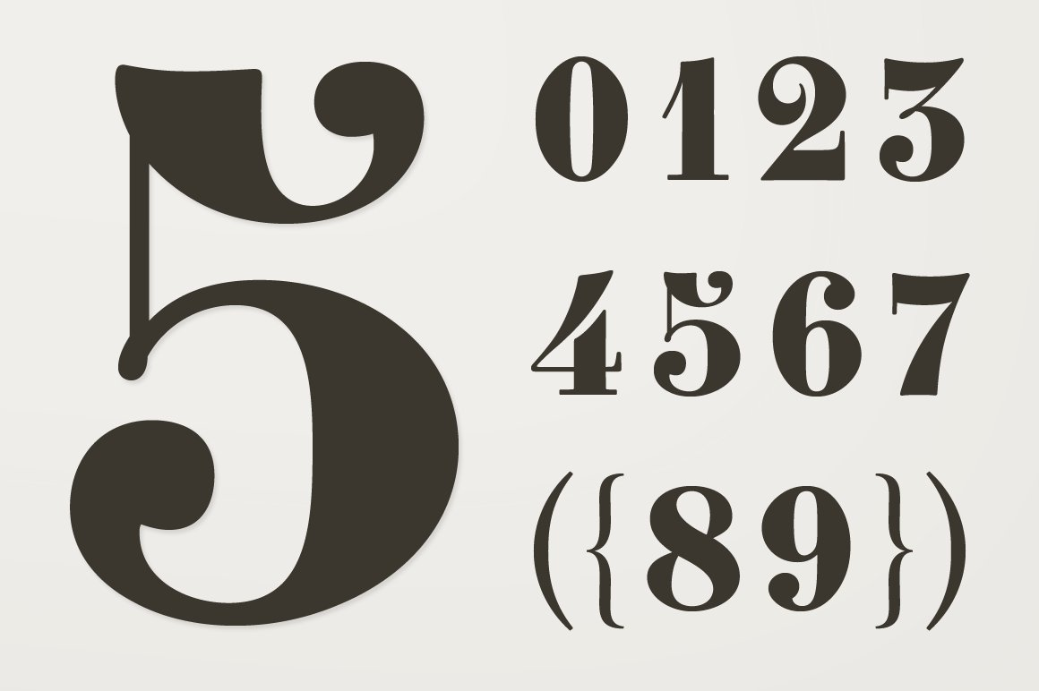 Clement Numbers Symbol Fonts Creative Market