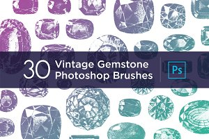 30 Vintage Gemstone PS Brushes